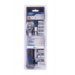 12 Pieces 3/8 Drive Ratchet and Socket Set